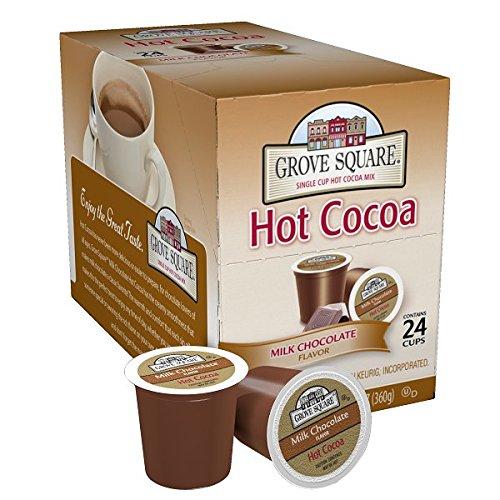 Grove Square Hot Cocoa, Milk Chocolate,12.70 oz, 24 Single Serve Cups