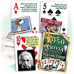 Flickback 1950 Trivia Playing Cards