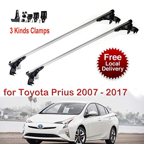 Pair of 48' Car Roof Rack Aluminum Luggage Cross Bar for Toyota Prius 2007-2017 Waterproof Car Luggage Rack Cargo Carrier Max Load 150LBS 2 Years Warranty