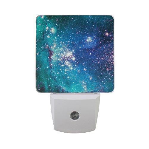 Luz nocturna LED Cosmos Space Stars Nebula Auto Senor Dusk to Dawn luz de noche ideal para recámara...