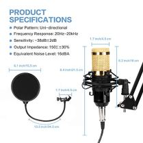 USB-Streaming-Podcast-PC-Microphone-MAYOGA-96KHZ24Bit-Cardioid-Streaming-Microphone-PC-Mic-Kit-with-Sound-Card-Boom-Arm-Shock-Mount-Pop-Filter-for-Youtuber-Karaoke-Gaming-Podcasting