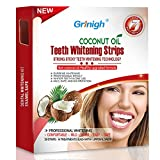 Grinigh COCONUT OIL Whitestrips Dental Professional Effects Teeth Whitening Strips Kit, 14 Treatments - Lasts 6 Months & Beyond - Non-Slip White Strips with a Fresh COCONUT Fragrance - 28
