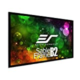 Elite Screens Sable Frame B2, 110-INCH Diag. 16:9, Active 3D 4K / 8K Ultra HD Fixed Frame Home Theater Projection Projector Screen with Kit, SB110WH2
