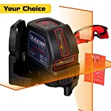 DLEADER Self-Leveling Laser Level, Cross Line Laser higher visibility 98ft/30m Outdoor 360° Flexible Magnetic Mount Base, Carrying Pouch and Eye Protection Safety Glasses Included (DLR00-20)