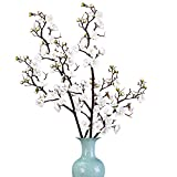 Sunm boutique 2 Pack Plum Blossom Artificial Flowers Simulation Flower Table Decoration Accessories Party Beach Theme Decorations