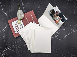 Golden-State-ArtAcid-Free-Cardboard-Photo-Folder-for-4x6-or-5x7-PicturePack-of-25-Ivory-Paper-FramesGreat-for-Portraits-Special-EventsGraduations-WeddingsChirsmasBaby-Showers