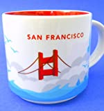 New Starbucks San Francisco Coffee Mug You are Here 2014 Bridge Clouds Seagulls