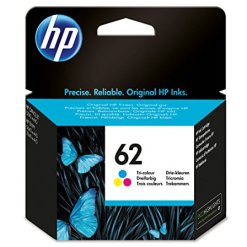 HP C2P06AE 62 Original Ink Cartridge, Tri-color, Pack of 1