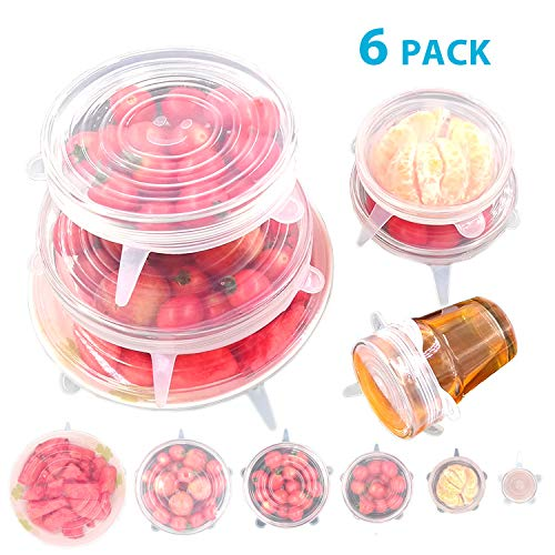 Bon-Venu-Silicone-Stretch-Lids-6-Pack-Various-Sizes-Cover-for-Bowl