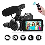 Camcorder Video Camera Full HD 1080P Night Vision WiFi Camcorder Vlogging Camera Blogging Camera 16x Digital Camera Vlog Video Camera for YouTube