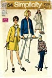 Simplicity 8754 Sewing Pattern Misses Retro Jacket Front-Wrap Skirt Pants Size 14 - Bust 36