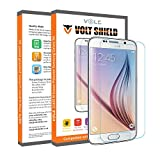 Galaxy S6 Screen Protector, Volt Shield Samsung Galaxy S6 Glass Screen Protector [ Tempered Glass ] Bubble-Free Scratch Proof High Definition (HD) Ultra Clear Easy to Install
