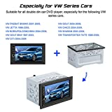 Universal Double 2Din Fitting Kit Radio Headunit Car DVD Player Mounting Casing for VW
