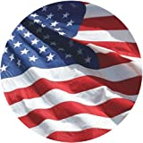 American Flag 4x6-100% Made in USA Using Tough, Long Lasting Nylon Built for Outdoor Use, UV Protected and Featuring Embroidered Stars and Sewn Stripes Plus Superior Quadruple Stitching on Fly End