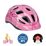 Ledivo Kids/Youth Bike Helmet-Adjustable Ultralight Child Bicycle Helmet for Ages 3-12 Years Boys Girls,CPSC Certified and 17 Breathable Vents Safety and Comfort (Blue)