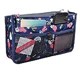 Vercord Updated Purse Handbag Organizer Insert Liner Bag in Bag 13 Pockets Cactus Large