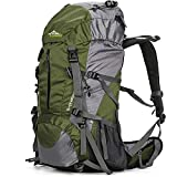 Hiking Backpack 50L Travel Camping Backpack with Rain Cover for Outdoor (Green)