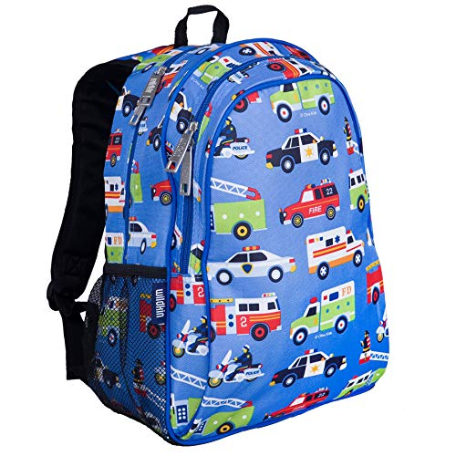Wildkin 15 Inch Backpack, Extra Durable Backpack with Padded Straps and Interior Moisture-Resistant Lining, Perfect for School or Travel, Olive Kids Design – Heroes
