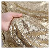 SP Boutique MatteGold Sequin Fabric 1yard Sequin Lines by The Yard Thanksgiving Christmas Halloween Decor