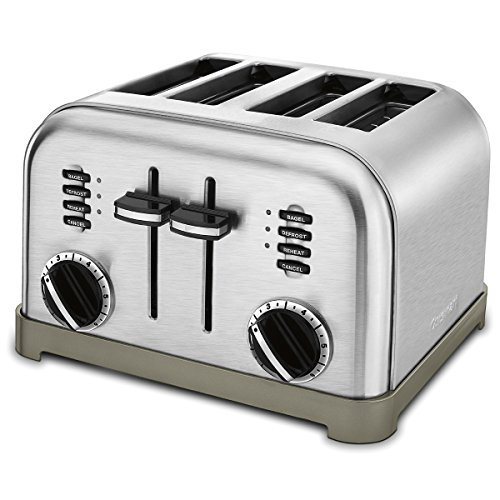 Cuisinart CPT-180 Metal Classic 4-Slice Toaster, Brushed Stainless