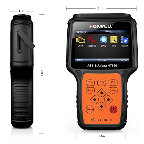 FOXWELL NT630 Review 2019: Automotive ABS, SRS OBD2 Scanner