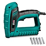 Electric Brad Nailer, NEU MASTER Staple Gun N6033 with Contact Safety and Power Adjustable Knob for Upholstery and Home Improvement, Includes 400pcs Staples and 100pcs Nails