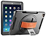New Trent iPad 9.7' Case 2018 (6th gen)/ 2017 (5th gen), iPad Air 2 / iPad Air, Heavy Duty Gladius Full-Body Rugged Protective Case with Built-in Screen Protector & Dual Layer Design