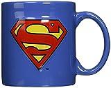 ICUP DC Superman Embossed Logo Ceramic Mug, 20 oz