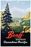 Canada - Banff - Canadian Pacific - (artist: Trompf) - Vintage Advertisement (9x12 Art Print, Wall Decor Travel Poster)