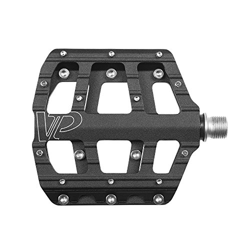 VP Components Bike Pedal Set for MTB BMX Bicycle, 9/16-Inch Spindle, Aluminum Platform with Replaceable Anti-slip Pins (VP-Vice Pedals) | VP-015-BK