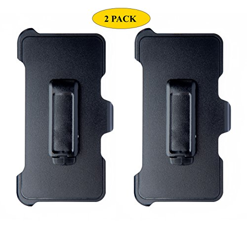 AlphaCell Holster Belt Clip Replacement Compatible with OtterBox Defender Series Case for Apple iPhone 5, iPhone 5S, iPhone SE (ONLY) - 2 Pack