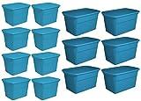 Sterilite 18 Gallon Storage Tote (8 Pack) + 30 Gallon Storage Tote (6 Pack)
