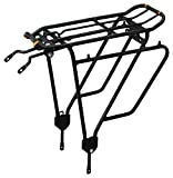 Ibera Bike Rack - Bicycle Touring Carrier Plus+ for Non-Disc Brake Mount, Frame-Mounted for Heavier Top & Side Loads, Height Adjustable for 26'-29' Frames