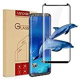 Protector de pantalla Samsung Galaxy S8 Plus, ivencase [Sin burbujas] [Case-Friendly] [Cobertura 3D] Vidrio templado Protector de pantalla HD Film para Samsung Galaxy S8 Plus Negro