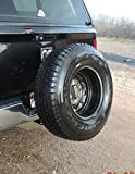 Receiver Hitch Spare Tire Mount Heavy Duty Truck Hitch Made in USA Steel Powder Coated U-4100