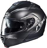 HJC is-MAX 2 Modular Helmet - Dova (Large) (Black/Silver)