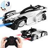 ANTAPRCIS Remote Control Car Toy - Wall Climbing Dual Mode 360° Rotating Stunt Car with New Remote Control, LED Head Gravity-Defying Racing Vehicle, Gift for Kids, Black