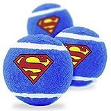Buckle Down Dog Toy Tennis Balls Superman Shield Blue