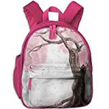 Pink Cherry Flower Tree Child Unique School Bag For Kindergarten