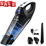 Zerhunt Handheld Vacuum Cleaner, [Newest 2019] Cordless Hand Held Vac Portable 6800PA Powerful Cyclonic Suction Lightweight Rechargeable Wet Dry for Home Pet Hair Car Cleaning