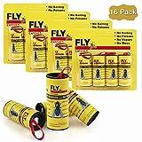Big Devil Sticky Fly Ribbons, Fly Trap, Fly Catcher Ribbon, Fly Paper Ribbon, Fly Paper Strips, Fly Paper Strips, Fly Catcher Trap, Fly Ribbon, Fly Bait (16 Pack)