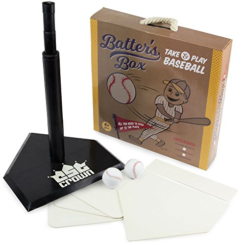 Batter's Box – Take & Play Baseball Set, Deluxe Youth Tee-Ball Starter Pack - Includes an Adjustable Batting Tee, 5 Rubber Bases, 2 Safety Balls, & Carrying Case by K-Roo Sports