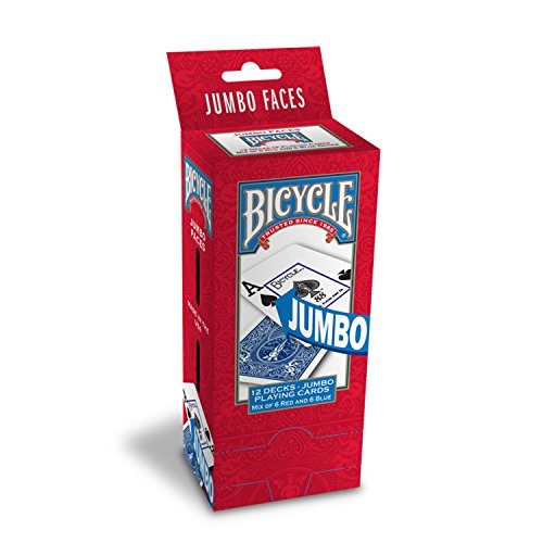 Bicycle Jumbo Index Playing Cards (Pack of 12)