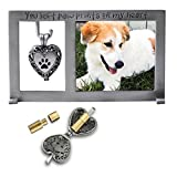 Cathedral Art PF404 Pet Memorial Frame with Vial for Ashes, 5-1/4 by 3-Inch
