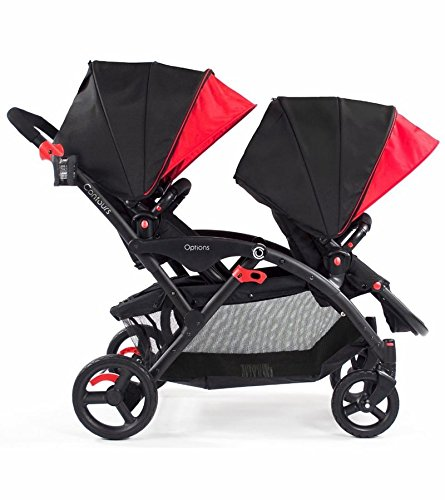 Contours Options Tandem Double Stroller, Red Velvet