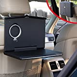 Car Laptop Mount, Foldable Vehicle Backseat Ipad Stand Holder for Kids Toy Bottles Storage and Mobile Office Dining Drink Eating Desk On Trucks/ Vans/ Suvs