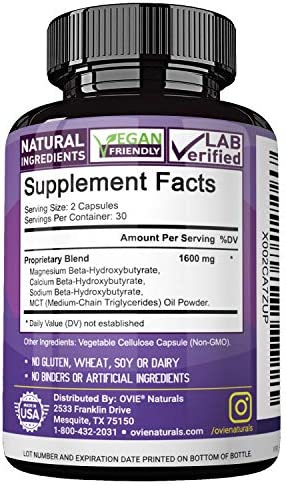 Ultra Fast Pure Keto Boost 1600mg - Advanced Clinically-researched Pure BHB Salts (beta hydroxybutyrate) with MCT Oil Keto Diet Pills - Best Ketosis Ketogenic Supplement - 60 Capsules; 30 Day Supply 9