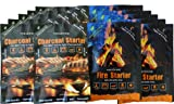 Instafire Granulated Emergency Firestarter Combo Kit, 12 Pack: 6 Packs Charcoal Starter, 6 Packs Fire Starter