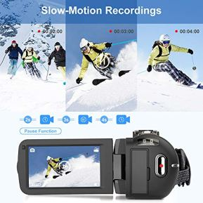 Video-Camera-27K-Camcorder-Ultra-HD-36MP-Vlogging-Camera-for-YouTube-IR-Night-Vision-30-LCD-Touch-Screen-16X-Digital-Zoom-Camera-Recorder-with-Microphone-Handheld-Stabilizer-Remote-Control