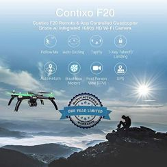 Contixo-F20-GPS-RC-Quadcopter-Photography-Drone-with-Camera-for-Adults-5GHz-WiFi-1080P-FHD-Gimbal-Camera-20-Minutes-Flight-Time-4-Brushless-Motors-with-90-Adjustable-Camera-for-Advanced-Selfie
